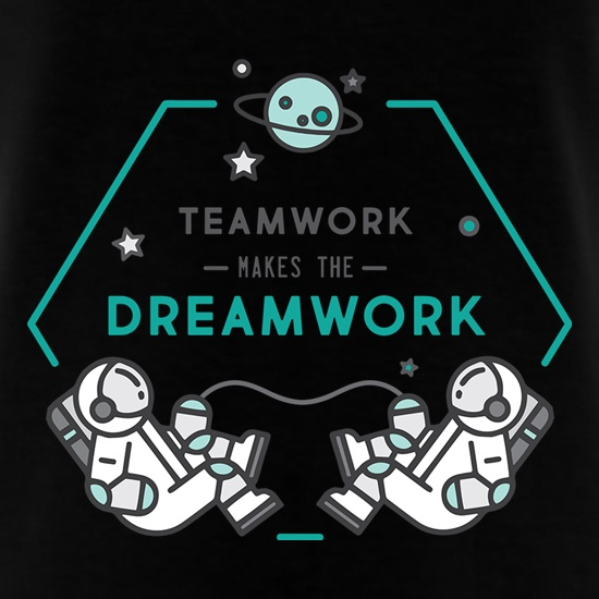 Team Work Makes The Dream Work t-shirts