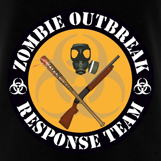 Zombie Outbreak Response Team t-shirts