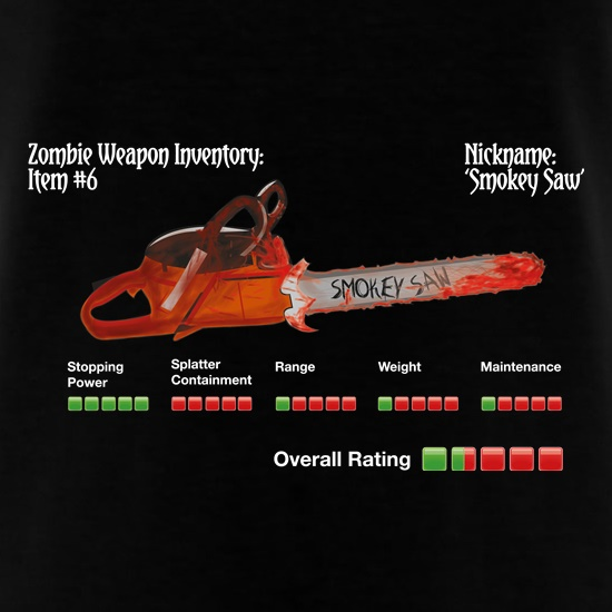 Zombie Smokey Saw t-shirts