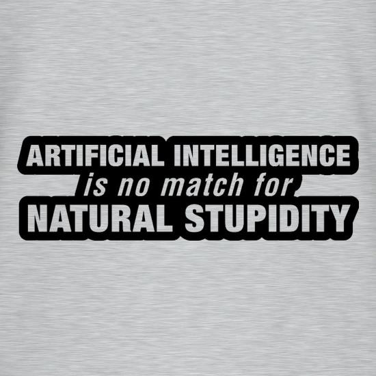 Artificial Intelligence Is No Match For Natural Stupidity V-Neck T-Shirts