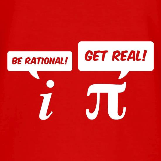 Be Rational Get Real V-Neck T-Shirts