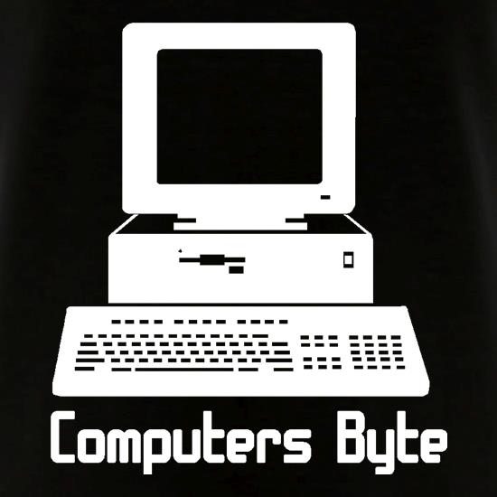 Computers Byte V-Neck T-Shirts