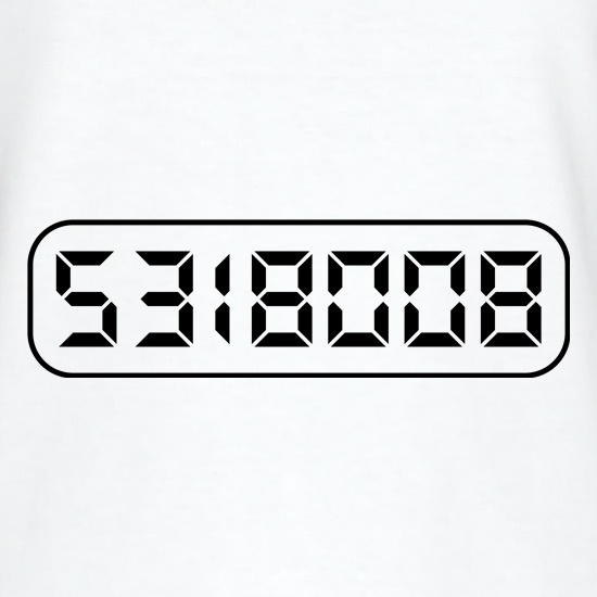 Calculator Boobies V-Neck T-Shirts