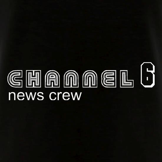 Channel6 news crew V-Neck T-Shirts
