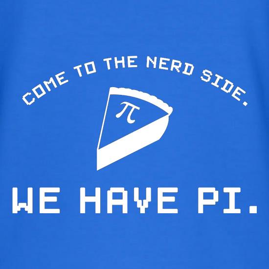 Come To The Nerd Side. We Have Pi V-Neck T-Shirts