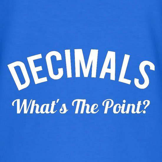 Decimals What's The Point V-Neck T-Shirts