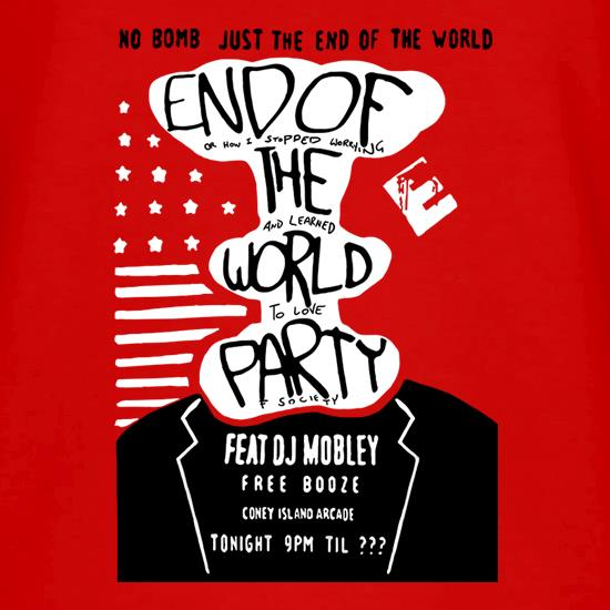 End Of The World Party V-Neck T-Shirts