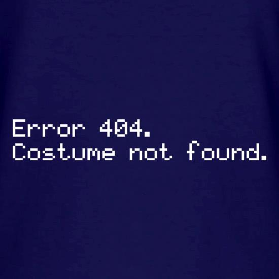 Error 404 Costume Not Found V-Neck T-Shirts