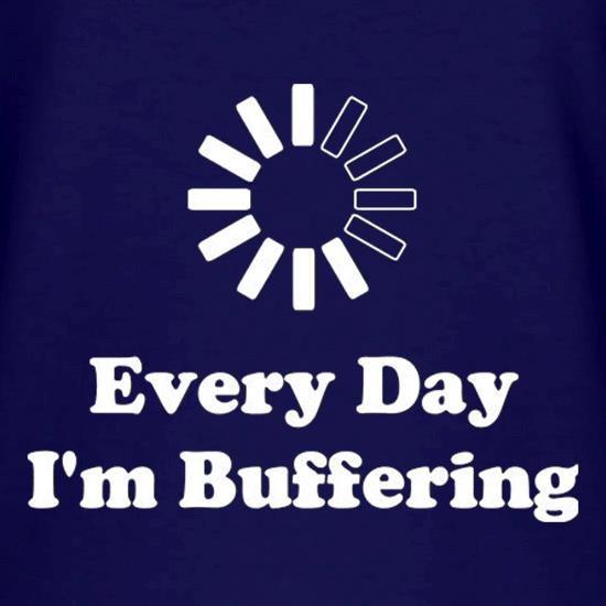 Every Day I'm Buffering V-Neck T-Shirts