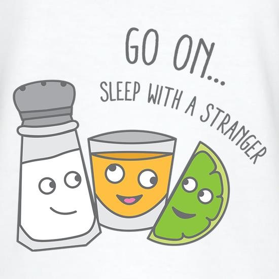 Go On... Sleep With a Stranger V-Neck T-Shirts