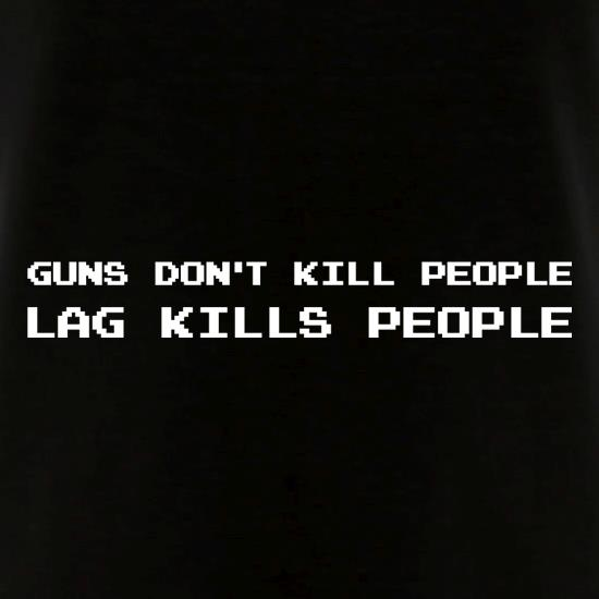 Guns Don't Kill People Lag Kills People V-Neck T-Shirts