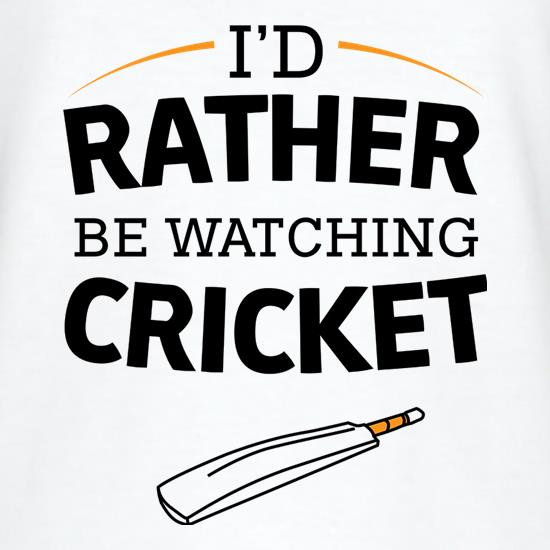 I'd Rather Be Watching Cricket V-Neck T-Shirts