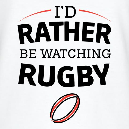 I'd Rather Be Watching Rugby V-Neck T-Shirts