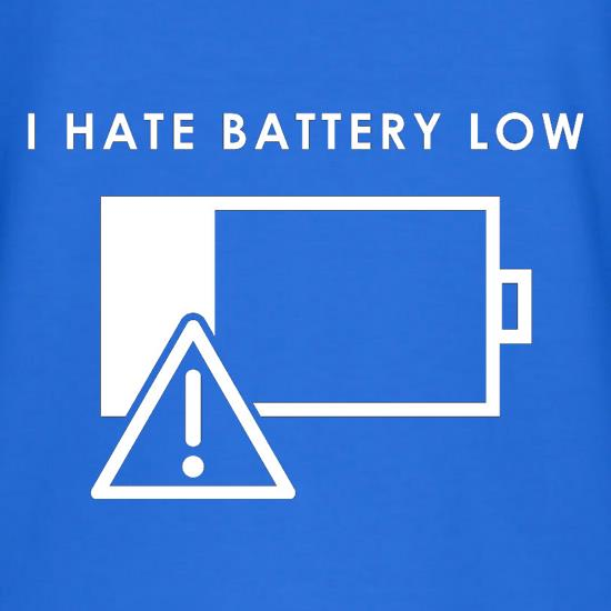 I Hate Battery Low V-Neck T-Shirts