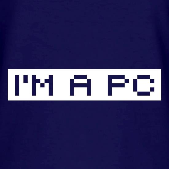I'm A PC V-Neck T-Shirts