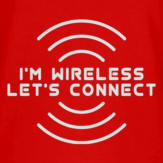 I'm Wireless Let's Connect V-Neck T-Shirts