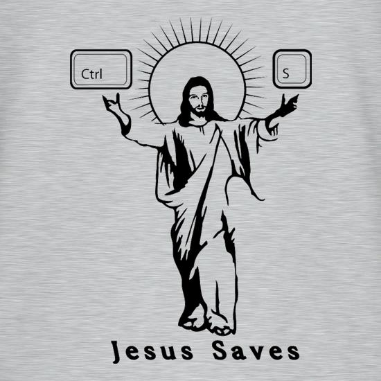 Jesus Saves (Ctrl+S) V-Neck T-Shirts