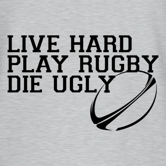 Live Hard Play Rugby Die Ugly V-Neck T-Shirts