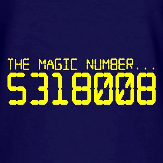 The magic number is Boobies V-Neck T-Shirts