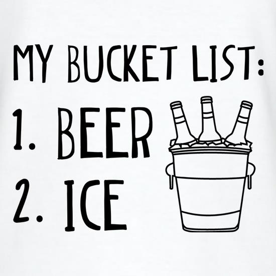 My Bucket List V-Neck T-Shirts