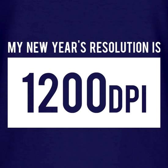 My New Year's Resolution Is 1200dpi V-Neck T-Shirts