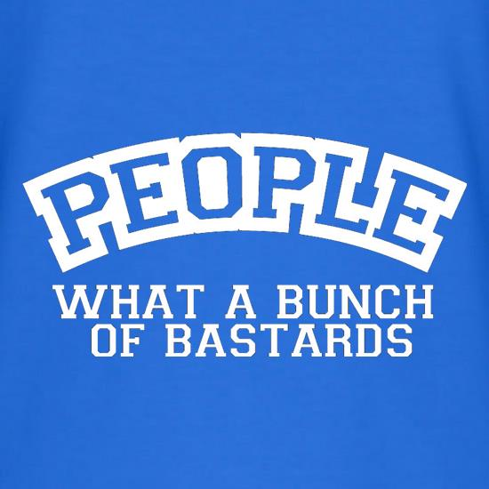 People What A Bunch Of Bastards V-Neck T-Shirts