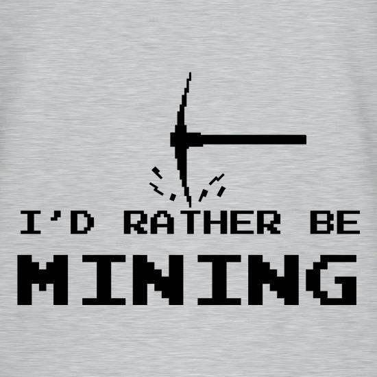 Rather Be Mining V-Neck T-Shirts