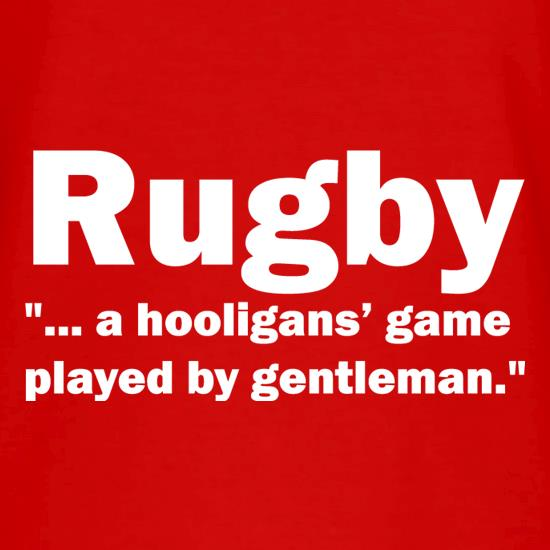 Rugby A Hooligans Game V-Neck T-Shirts