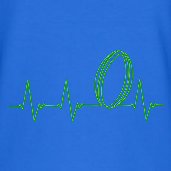 Rugby Heartbeat V-Neck T-Shirts