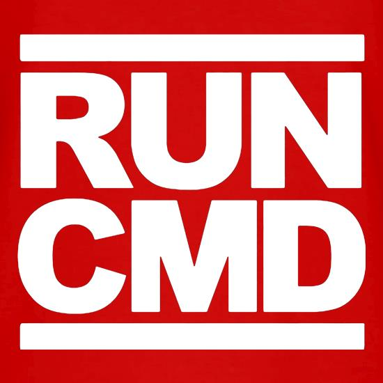 RUN CMD V-Neck T-Shirts