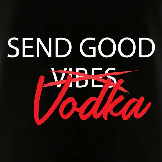 Send Good Vodka V-Neck T-Shirts
