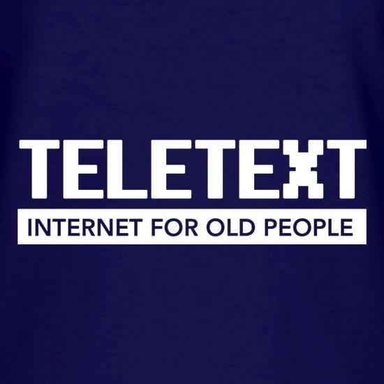 Teletext Internet For Old People V-Neck T-Shirts