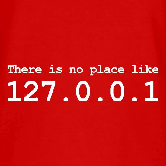 There Is No Place Like 127.0.0.1 V-Neck T-Shirts