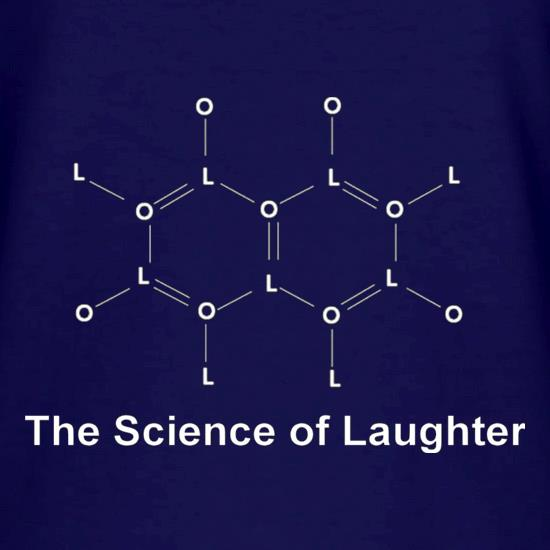 The Science Of Laughter V-Neck T-Shirts