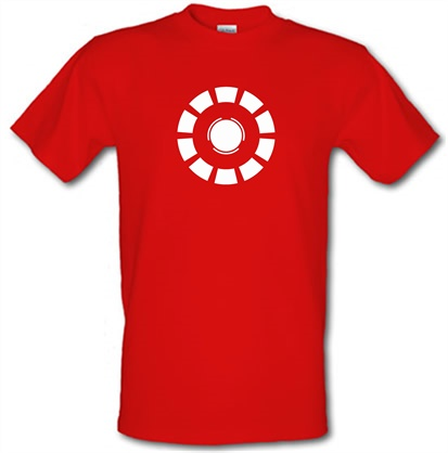 bd32cb522 Arc Reactor Iron Man T Shirt. Few people can be classified as likeable  jerks. It must be the radiation from the power source in Tony Stark's chest  (nope, ...
