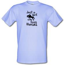 Just A Girl Who Loves Horses t shirt