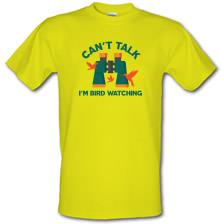 Can't Talk, I'm Bird Watching t shirt