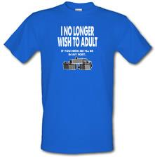 I No Longer Wish To Adult t shirt