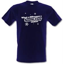 What A Difference A Snow Day Makes t shirt
