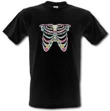 Sugar Skull Ribs t shirt