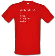 Eat, Sleep, Code t shirt