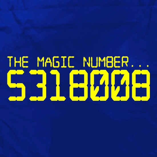The magic number is Boobies t shirt