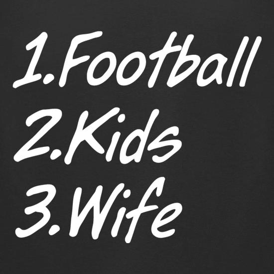 Football Kids Wife t shirt
