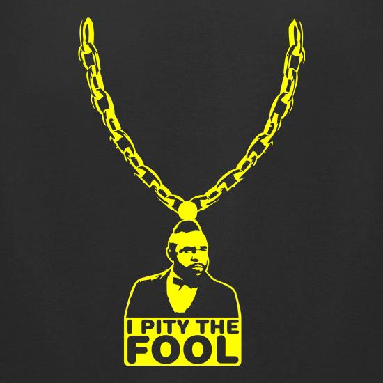 I pity the fool medallion t shirt