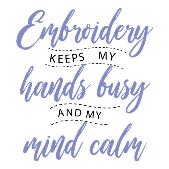 Embroidery Keeps My Hands Busy t shirt