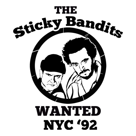The Sticky Bandits t shirt