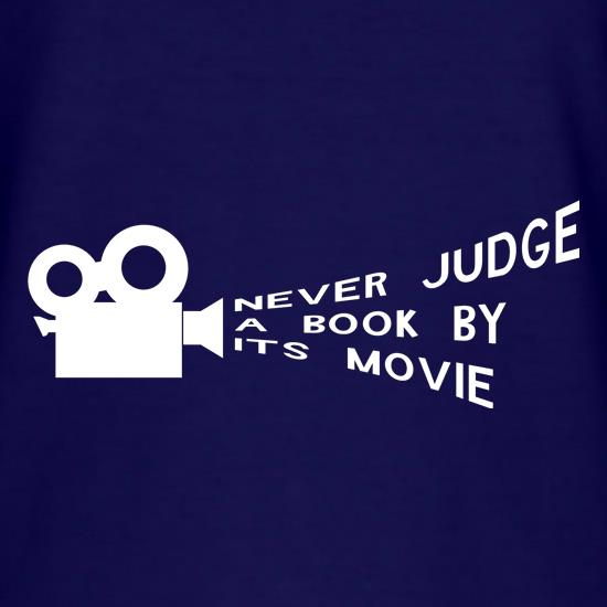 b061c995 never judge a book by it's movie t shirt ...