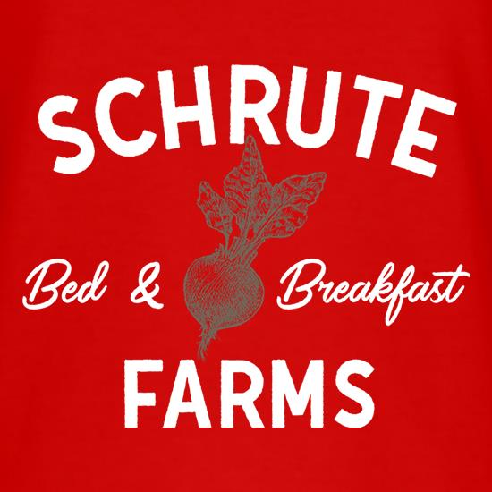 Schrute Farms, Bed and Breakfast t shirt