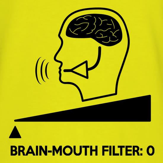 Brain-Mouth Filter Is Zero t shirt