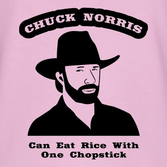 Chuck Norris Can Eat Rice With One Chopstick t shirt